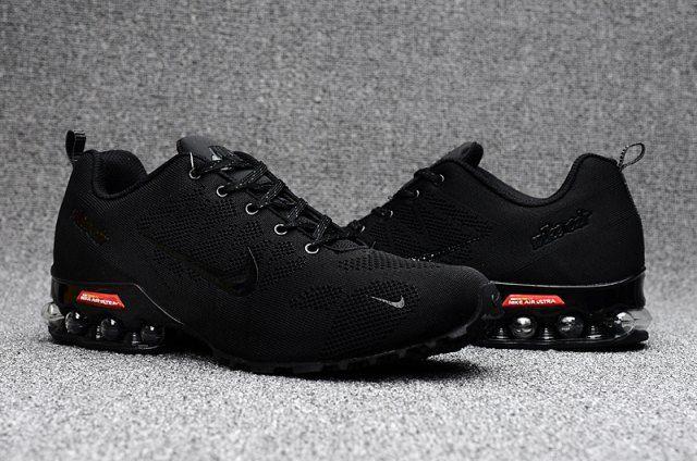 fed69bc8f01 Nike Air Ultra Max 2018. 5 Shox Triple Black Red Mens Running Shoes ...