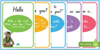 Tongan Language Week, Greetings Display Posters