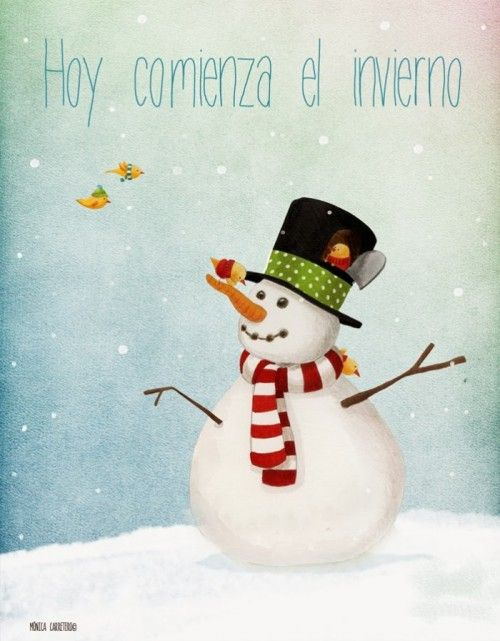 Imágenes de bienvenido invierno para Pinterest