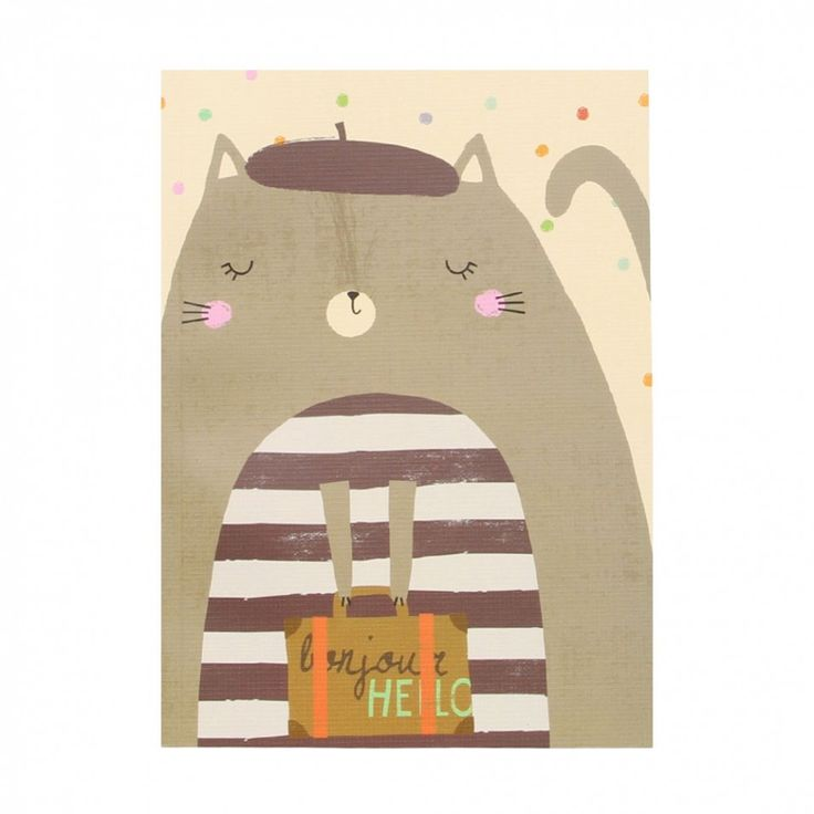 French kitty A5 thick exercise book - Notebooks - Stationery
