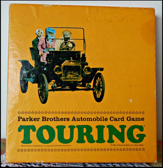 Game Parker Brothers Touring | Parker Brother's Touring card game from 1965 by HearthandWhimsy