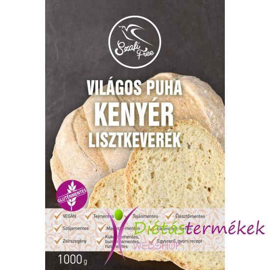 Szafi Free Világos puha kenyér lisztkeverék 1000g (gluténmentes, tejmentes, tojásmentes, élesztőmentes, szójamentes, kukoricamentes)
