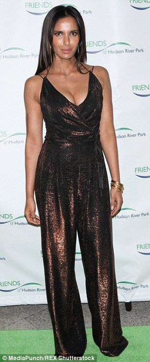 Padma Lakshmi displays shapely figure as she attends Hudson River Park Gala | Daily Mail Online