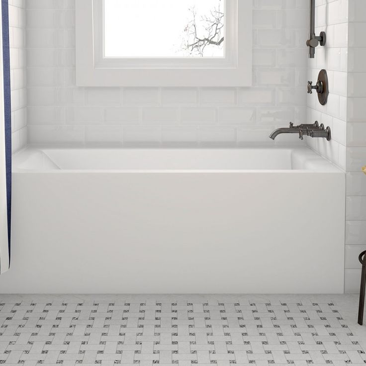 The Simplicity I Pure is an alcove bathtub, designed with an integral front apron and single tiling flange. It has a clean front skirt, no design. Acri-tec alcove bathtubs are constructed of a high quality cast acrylic sheet that has a uniform composition and color throughout. The acrylic is fully supported by several layers of fiberglass and in several key stress areas, additional wooden support panels. Each bathtub has leveling legs to help level the bathtub for installation on uneven…