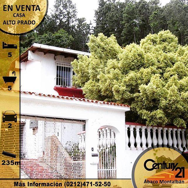 🏠 casa en Alto Prado 🏠 De 235 Mtrs de construcción y terreno. 2 niveles. ✅5 Hab. ✅ 5🚽Baño ✅1Cocina empotrada ✅ 1Sala ✅1Comedor ✅🚘Estacionamiento para 2 carros ✅Tanque de Agua  Contáctanos en Caracas: ☎️(0212)471.52.50/471.92.44/4716718  Código 886595  #Century21 #C21  #Bienesraices #Realtor #Realestate #inmobiliaria  #Inmuebles  #venezuela #Vivienda  #Caracas  #Apartamento #Casa  #Alquiler #ventas #c21abaco #Apto #compra #venta #vende #alquila @C21gersong #localrealtors - posted by…
