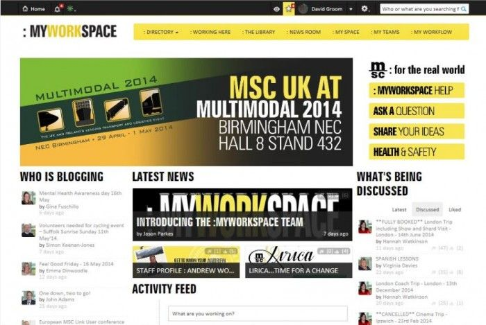 :MYWORKSPACE from Mediterranean Shipping Company (UK) Ltd