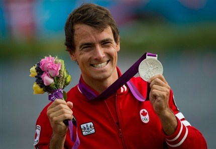 Day 12 (August 8th, 2012) - Silver - Men's  K-1 Sprint Kayak 1000M - Adam van Koeverden - his fourth Olympic medal in three Games, making him the most decorated Canadian Olympic kayaker in history (1 Gold, 2 Silver, 1 Bronze). This is my favourite Canadian athlete of all time, and I am SO incredibly proud of him. He gets an honourary gold medal in my books - for awesomeness (well, and for hotness LOL) <3