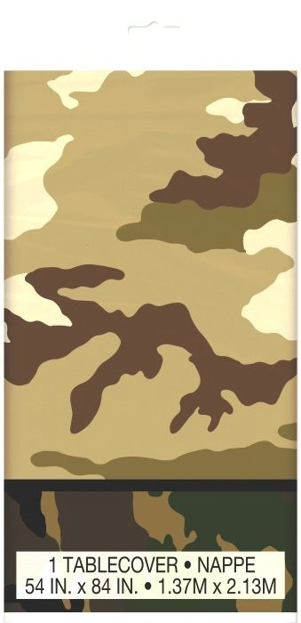 Army Camouflage Party Supplies | Military Party Tablecovers | Party Supplies and Decorations