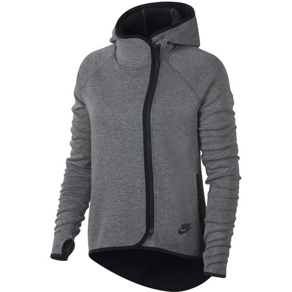 Nike Tech Fleece Cape FZ ($110) ❤ liked on Polyvore featuring grey and nike