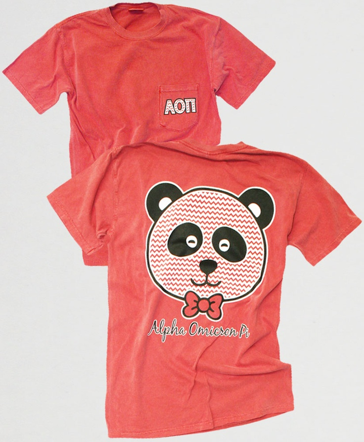 AOII Chevron Panda Comfort Colors T