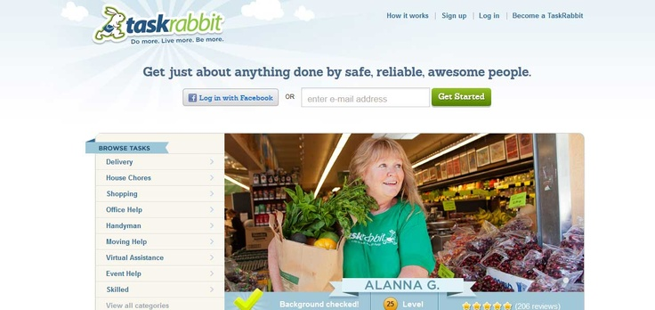 TaskRabbit. Get just about anything done by safe, reliable, awesome people.