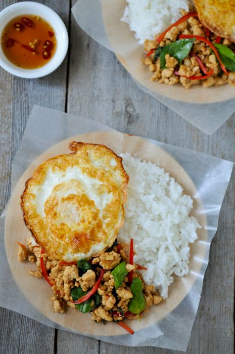 Thailand's famous street food - Gai Pad Grapow (Chicken with Holy Basil)