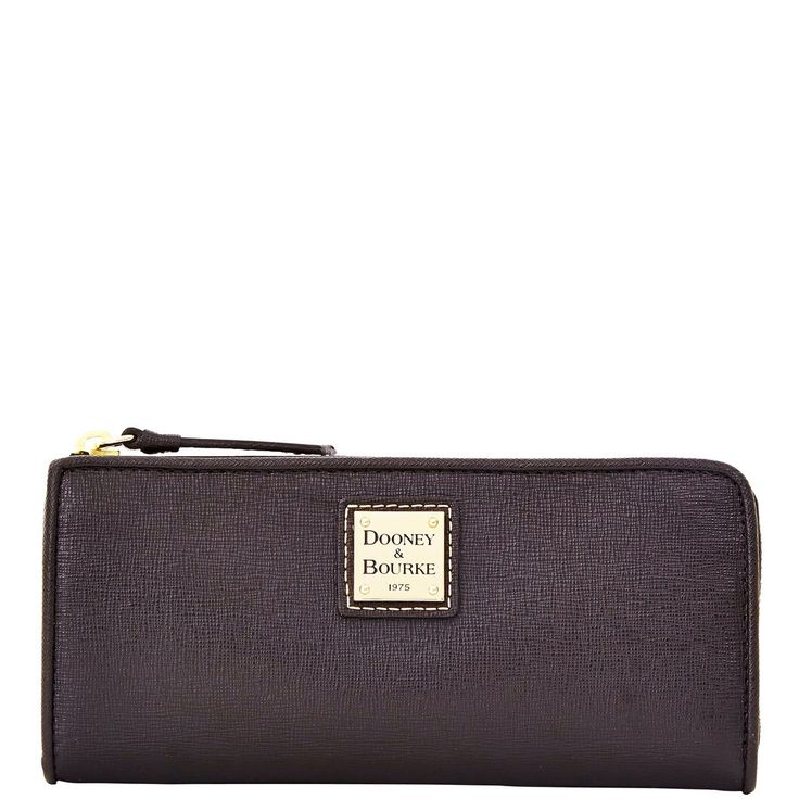 Dooney & Bourke Saffiano zip clutch in Ivy