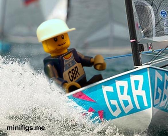 Lego Ben Ainsley - sailing home