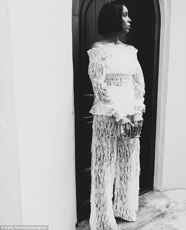 Kelly Rowland is celebrating her 36th birthday tomorrow. On Friday, the birthday girl got ready to party a day early, seen dressed to the nines while leaving a house in Beverly Hills.