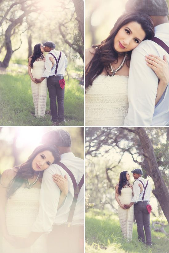 Romantic Maternity Session in the Forest