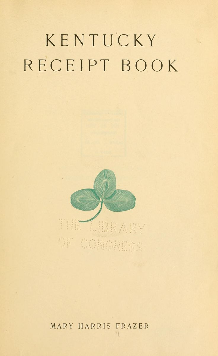 Old Kentucky cookbook. On this download you can turn the pages on yesterday's food. Try the Kentucky Burgoo......mmmmm!