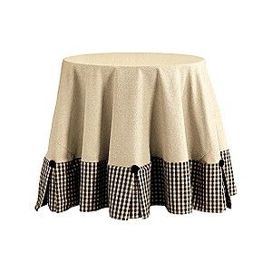 Limited Edition Designer 90 Inch Tablecloth - Round Cotton Tablecloth - Dressy Tablecloth - Ballard Designs
