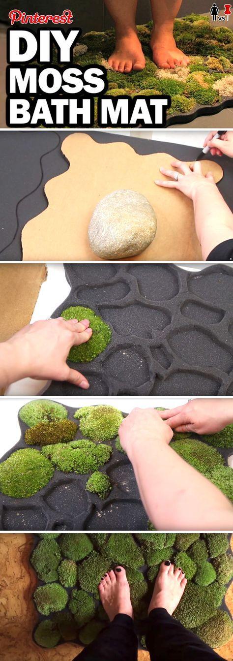 This DIY Moss Bath Mat Brings Self-Thriving Lush Greens Inside Your Home!