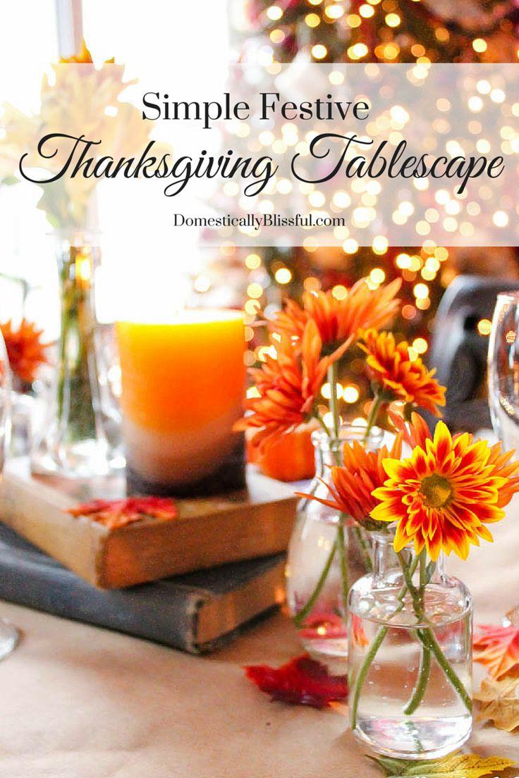 Simple Festive Thanksgiving Tablescape