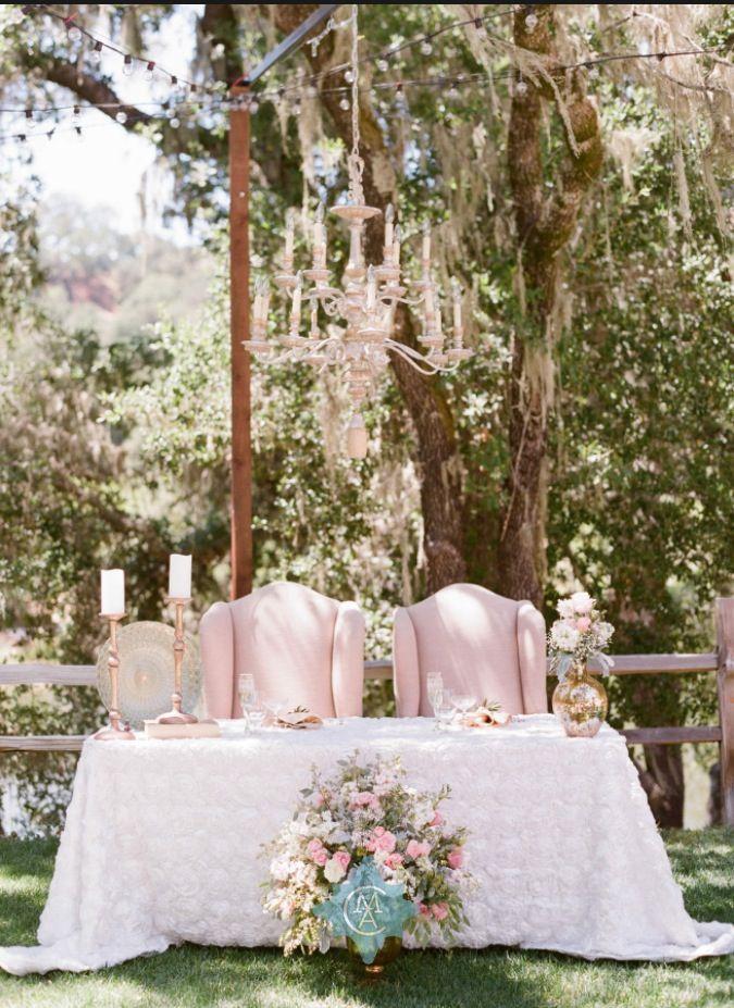 ideas para decorar la mesa de los novios en el banquete de bodas