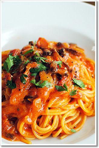 グアンチャーレを使ったアマトリチャーナのスパゲッティ by レシピと ...