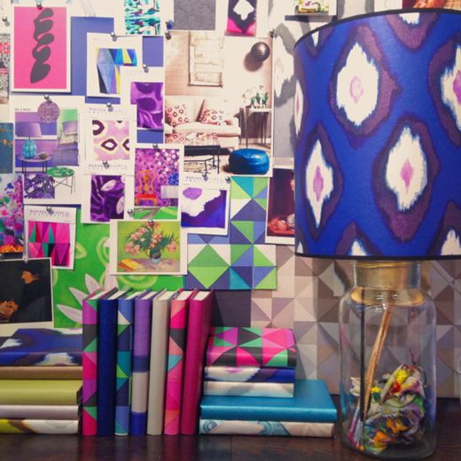 Mariska Meijers colourful designs - Loving this lampshade  all the mix of colours in this picture, perfect for this board.