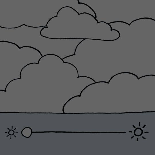 Céu muito nublado com períodos de sol, se quisermos!