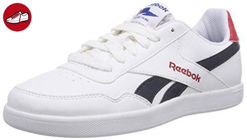 Reebok Royal Effect, Unisex-Kinder Sneakers, Weiß (White/Navy/Stadium Red), EU 38.5 (UK 6 / US 6.5) - Reebok schuhe (*Partner-Link)