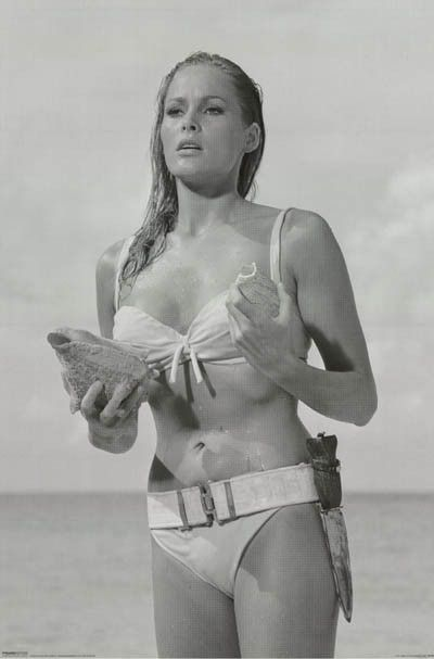 A great poster of Ursula Andress emerging from the sea in the classic scene from…