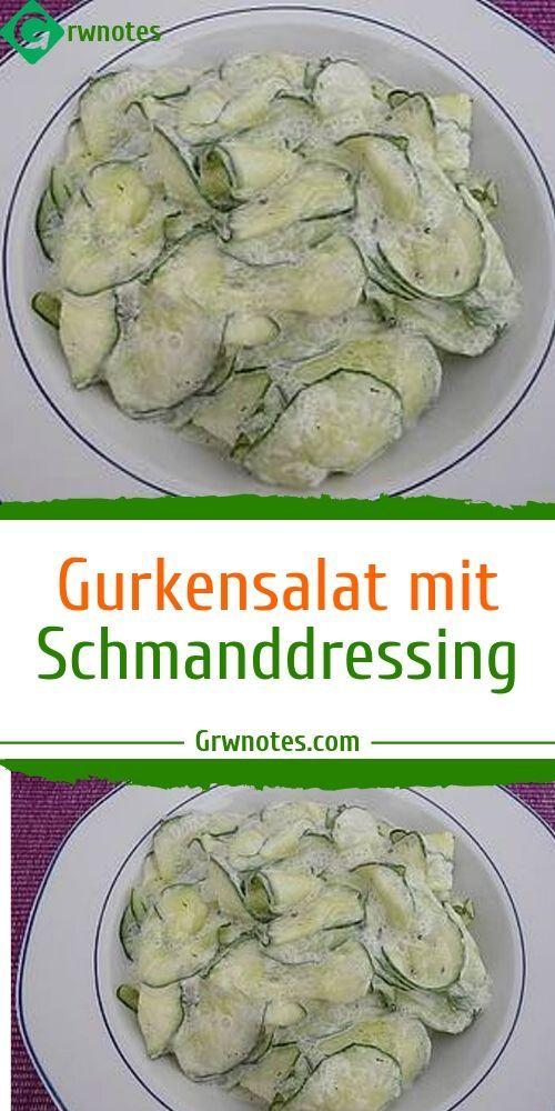 Zutaten:1 Salatgurke(n)1/2 Becher SchmandZitronensaftDillSalz und PfefferZuberei…