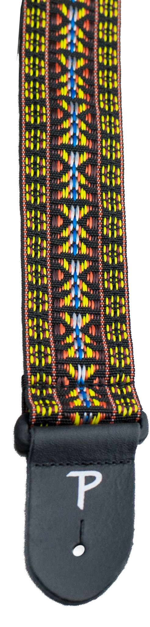 """2"""" Hootenanny Weaves Fabric Guitar Strap- Adjustable from 39"""" to 58""""  Made in Canada"""
