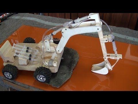 Escavadora hidráulica de juguete 2.2 partes - YouTube