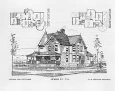 Victorian house plan book this one has a vestibule for Queen anne cottage house plans