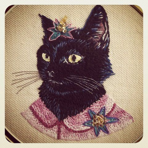 Sublime Stitching - Ryan Berkley Embroidery Patterns - Stitched by Prudence Grayson  Hand embroidery pattern available from Sublime Stitching.