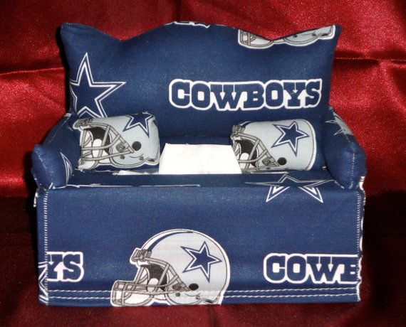 Dallas Tissue Box Couch by VLyzetteCustomBags on Etsy