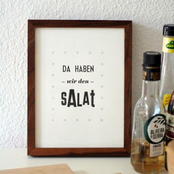 Da haben wir den Salat, Letterpress, limited