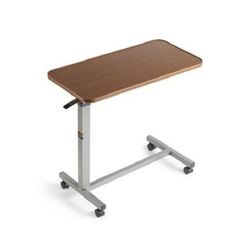 Rolling Over Bed Tray Table Adjustable Bedside Desk Seniors Bedroom  Furniture