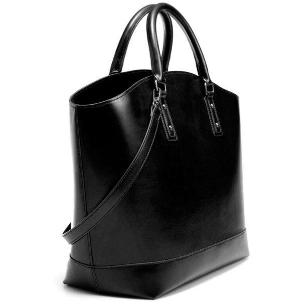 Zara Two-Tone Shopper Bag ($80) ❤ liked on Polyvore