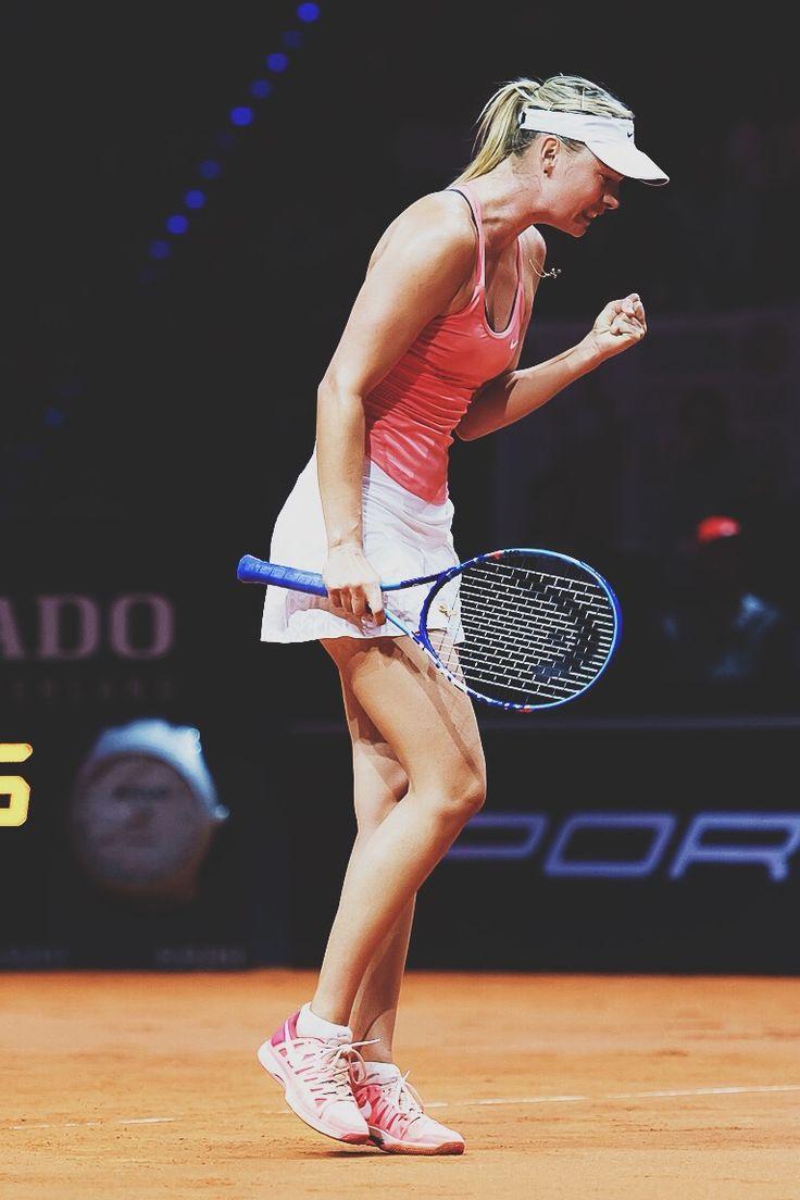 Maria Sharapova playing in Stuttgart 2015 #WTA #Sharapova #Stuttgart
