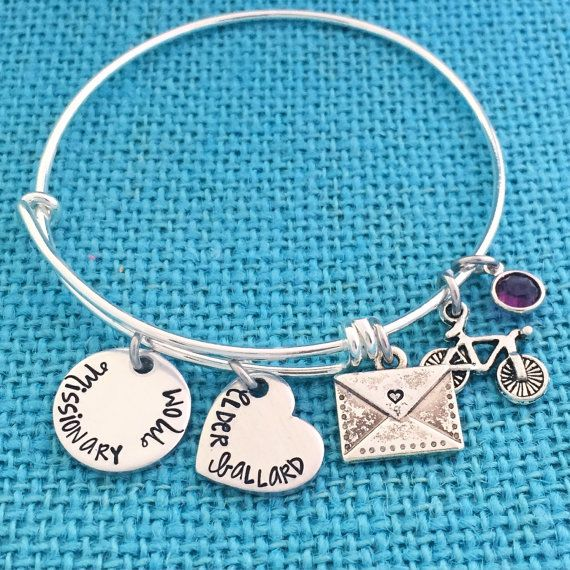 NEW Missionary Mom Bangle Bracelet  LDS Jewelry por Eight9Designs