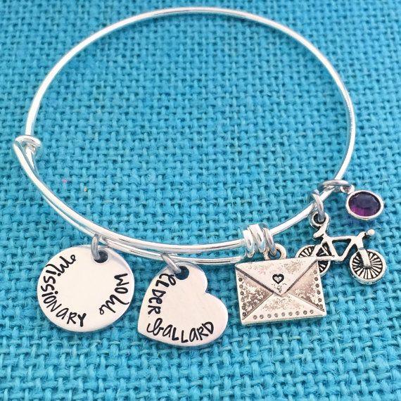 NEW Missionary Mom Bangle Bracelet  LDS Jewelry por Eight9Designs