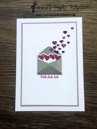 jpp - Karte Briefumschlag mit Herzchen / card letter / hearts / Valentine's / Valentinstag / Liebe/ sneak peek / OnStage 2016 / Schauwand Designer / Display Stamper / Stampin' Up! Berlin / Mit Gruß und Kuss / Sealed with love / love notes / Liebesgrüße www.janinaspaperpotpourri.de