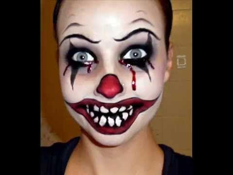 DIY maquillage de clown diabolique