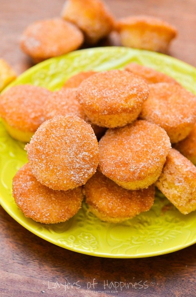 Mini Cinnamon Sugar DONUT MUFFINS: Easy, quick, buttery, and completely irresistible!!