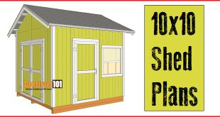 10x10 shed plans for the garden or storage. Free PDF download.