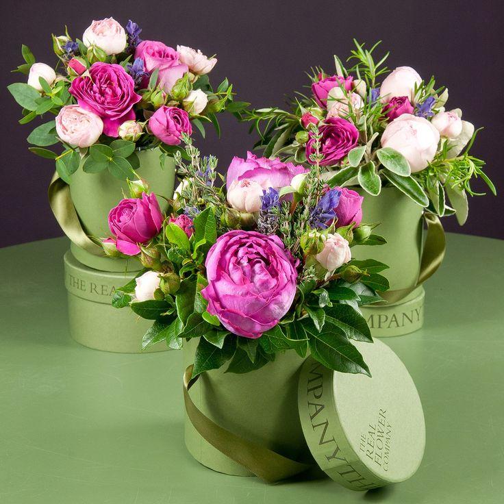 156 best box flower images on pinterest florists flower shops hat box flower arrangements the real flower company voltagebd Gallery