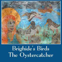 Celtic Goddess Brighide's Birds - Oystercatcher art journal spread with mixed media