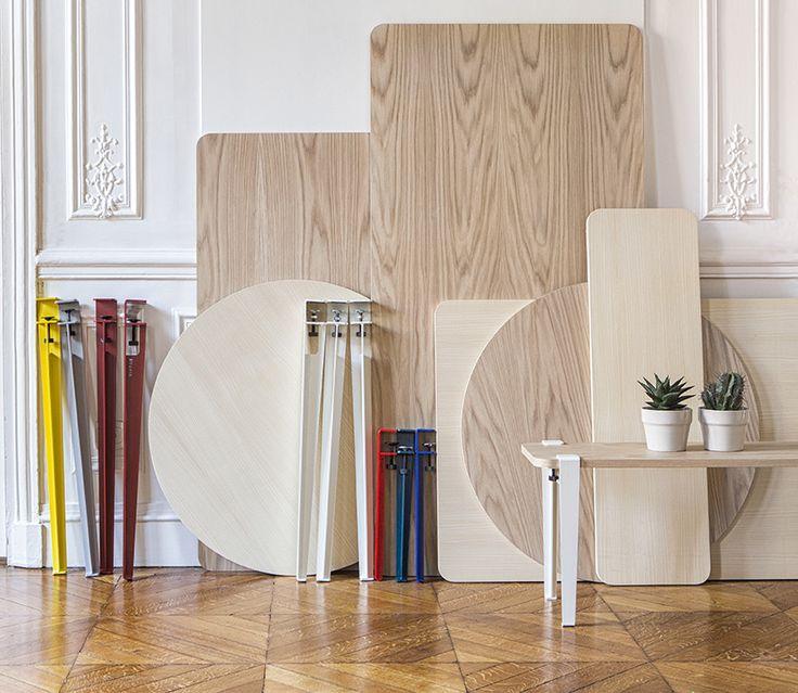 Créez un meuble, une table ou un bureau original grâce aux pieds TIPTOE. Imaginez votre table personnalisée avec les pieds modulables et design TIPTOE!