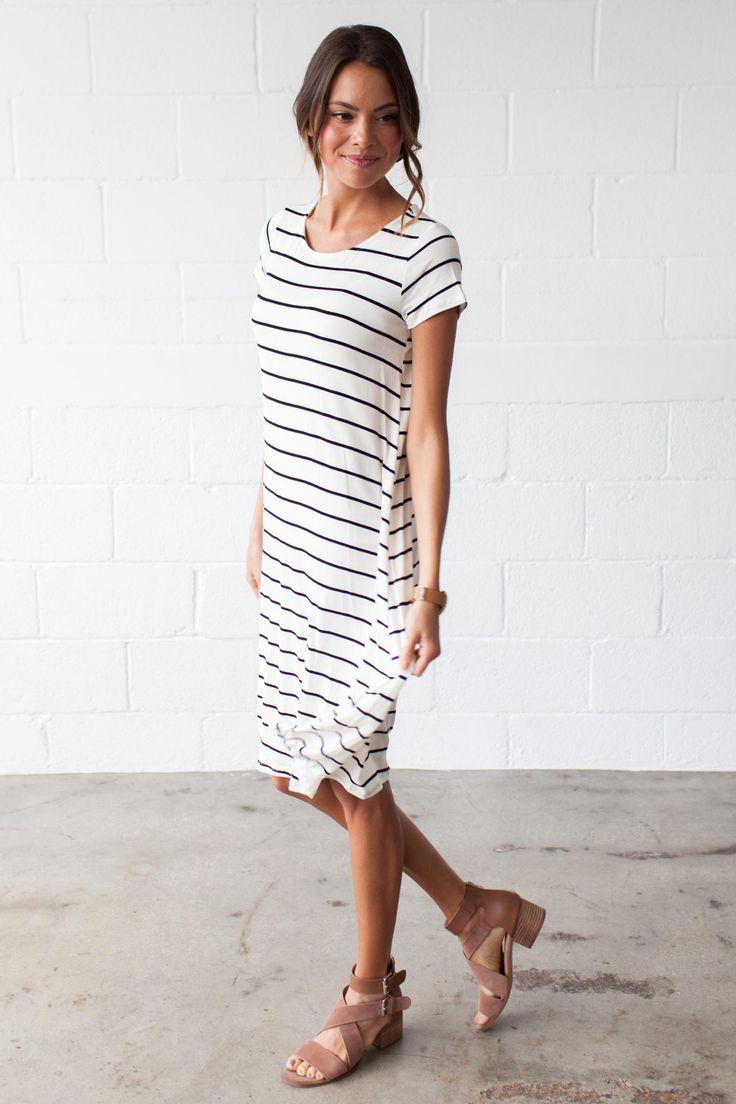 Lucy Striped T-Shirt Dress